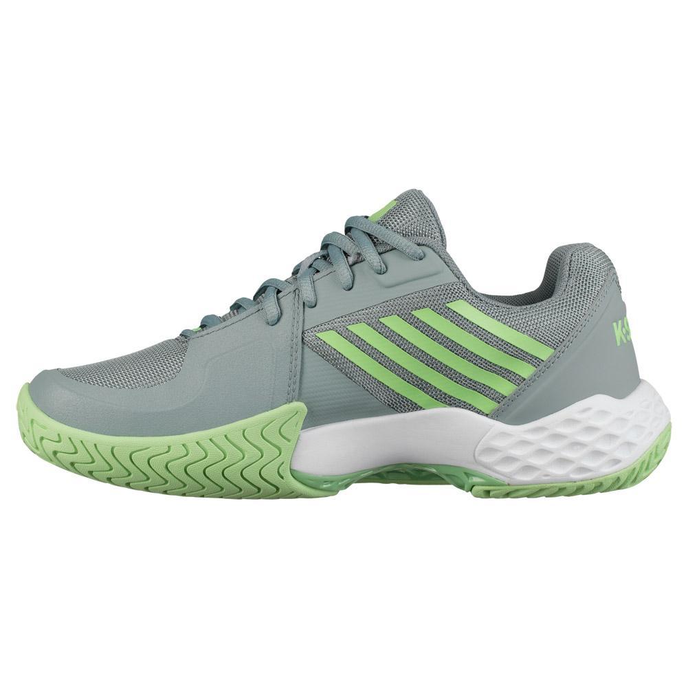 White//Paradise Green//Abyss, 5 K-Swiss Womens Hypercourt Express Tennis Shoe