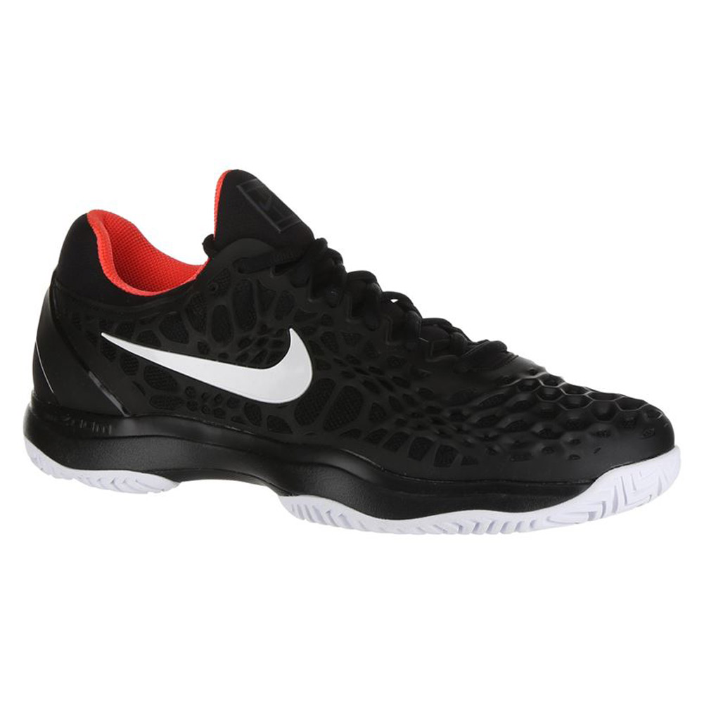 Nike Air Zoom Cage 3 HC (Black/White/Bright Crimson) Men's Tennis ...