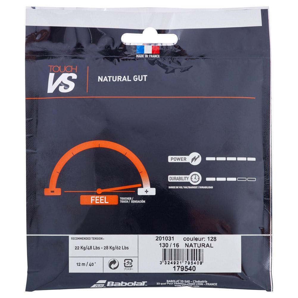 Black Babolat VS Touch Natural Gut 1.30mm Tennis String Set Color